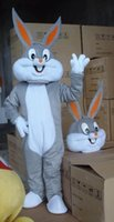 animal bugs - Hot Bugs Bunny Costumes Mascot Adult Cartoon Mascot Performance Cute Cartoon Rabbit character Mascot