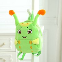 denim fabric - 2015 The Journey of Flower Cartoon Candy Treasure Cute Boys And Girls In Kindergarten Small Bag Plush Toy Backpack Schoolbag Fashion Pack