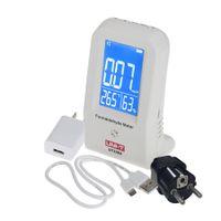 Wholesale LCD Display Digital High Precision Indoor Thermometer Hygrometer Formaldehyde Data Logger Detector Meter Air Monitor Tester order lt no trac