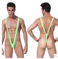 Cheap Sexy Bikini Lingerie Men Funny Swimming trunks Shorts One-Piece Beach Mens Sheer Swimwear Funny pant for men Penis Sheath