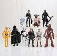 Wholesale PrettyBaby Star Wars Darth Maul Darth Vader Master Yoda Doll Luke Skywalker Stormtrooper Action Figure Model Toy set