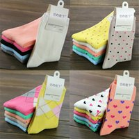 Wholesale New Fashion Hot style Winter Cotton Quality Casual Socks color options Sweet Ankle Socks For Women Pair