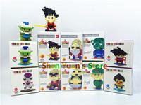 Wholesale 10 Style Dragon Ball Z Toy Building Block Action Figures Son Goku Piccolo Vegeta Frieza Anime Toy Oolong Master Roshi Karrin