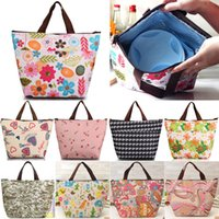 Wholesale Hot Sales Insulated Tote Lunch Bag Box Cool Canvas Thermal Handbag Food Drinks Holder BX146