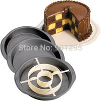 Wholesale NEW Checkerboard Cake Non Stick Baking Pan Tin Divider Set with color box