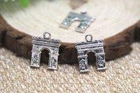 arch antiques - 20pcs Triumphal Arch Charms Antique silver Lovely Triumphal Arch Charm Pendant x18mm