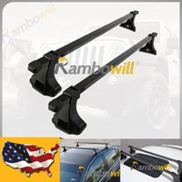 Wholesale Pair Car Top Luggage Roof Rack Cross Bars inch Cargo Carrier LBS Solid Steel Window Frame Fit Door Truck SUV Offroad Vehicle
