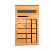 Wholesale Fashion office general purpose digits real natural bamboo solar energy electronic calculator