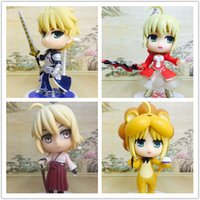 Wholesale Anime fate stay night Saber PVC Action Figure Collectible Model doll toy cm set