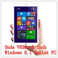 Cheap Onda V820w 8 Inch Windows 8.1 Tablet PC Intel Bay Trail Z3735F Quad Core 64bits 1.83GHz 2GB RAM 16GB 32GB ROM IPS 1280x800 Dual Camera GPS
