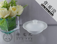 dinner sets fine china - 5 quot Bird s Nest Bowl with Cover fine bone china ceramic round dinner bowl tableware set hotel supplies home Kitchen supplies Tableware