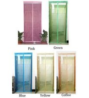 Wholesale by DHL or EMS pieces Mosquito Curtain Screen Door Magnetic Magnet Stripe Summer Portiere