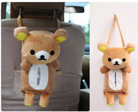 Wholesale 2016 New Creativity Fashion Car Seat Back Car Tissue Box Seat Pocket Case Cute Bag for Car Hanging Type Soft Cartoon Bear