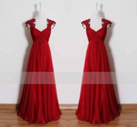 Wholesale Cut Out Red Vintage Prom Dresses Party Evening Gowns Actual Photo Lace Tulle Cheap Long Formal Gowns Custom Made Vestidos