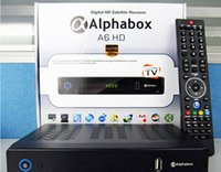 Wholesale Skybox F6 Update Skybox ALPHABOX A6 HD DVB S2 satellite Receiver Full HD PVR with USB Support USB Wifi G GPRS function VFD DHL