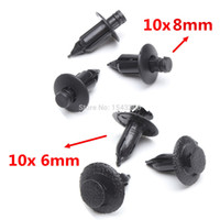 Cheap 20pcs Motorcycle Fairing Panel Fastener Clips 6mm&7mm Plastic Rivet For Suzuki Trim