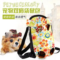 Wholesale National fashion Kanga package portable pet cat out bag dog backpack chest