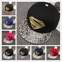 Cheap New fashion popular men wemwn snapback caps superman baseball cap active snapback hats