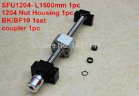 Wholesale 1204 ballscrew set SFU1204 L1500mm Ball screw C7 Nut Housing BK BF10 Support mm coupler