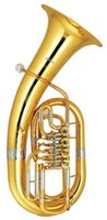 Wholesale 4 Valves Euphonium in Bb with ABS case and mouthpeice Musical instruments Shipping time days
