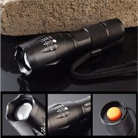 Wholesale E17 T6 lm CREE XM L High Power CREE LED Torch Zoomable CREE LED Flashlight torch light xAAA battery set