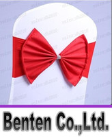 Cheap Wedding Party Banquet spandex Sash Bows For Chair Cover with jewel 2015 new style Hot selling LLFA3320F