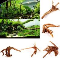 Wholesale Driftwood Aquarium Ornament Stump Cuckoo Root Tree Trunk Decor Fish Tank