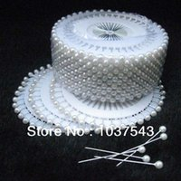 Wholesale Newest Round Head Dressmaking Wedding Faux Pearl Decorating Sewing Pins Craft