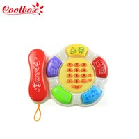 Wholesale Coolbox CB5033 Baby Kid s Musical Round Learning phone English learning marchine learning toys dropping