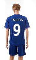 chelsea - 2015 Chelsea home blue football uniform TORRES men s desinger football jersey Brand soccer kit short sleeve sportwear