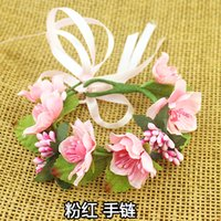 Wholesale 7 Color Girl Flower Bracelets Accessories Women Seaside Holiday Photograph Wedding Accessories Multicolor DF426