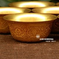 Wholesale New special for copper water bowl eight auspicious work beautifully textured clear glass cm diameter