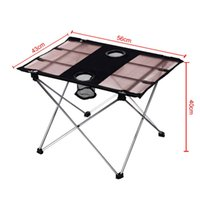 Wholesale Ultralight Outdoor Table Aluminium Alloy Portable Foldable Table Table Desk for Camping Picnic Travel Fishing BBQ order lt no track
