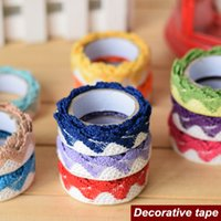 scrapbooking supplies - 6 Lace wave decorative tape Washi cotton adhesive tapes Scrapbooking tools Scotch stickers material School supplies