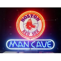 baseball man cave - BASEBALL MAN CAVE BOSTON RED SOX HANDICRAFT NEON SIGN REAL GLASS TUBE LIGHT BEER BAR PUB STORE x14 quot