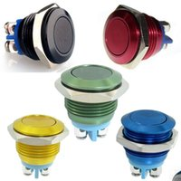 Cheap 16mm Anti-Vandal Momentary Stainless Steel Metal Push Button Switch 5color to choose