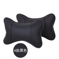 Wholesale Promotion Black Car headrest neck pillow Car Covers Danny leather Car Pillow Seat Cover Car Cushion Pillow M12453