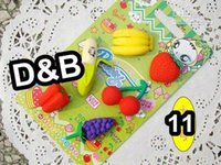 Wholesale Fshion design Cute Simulation Fruit Eraser set eraser Designs Office Rubber Eraser Gift