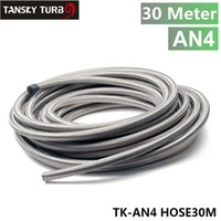 Wholesale Tansky AN4 Stainless Steel Braided Fuel Line Oil Gas Hose each M FT ID MM OD MM TK AN4 HOSE30M