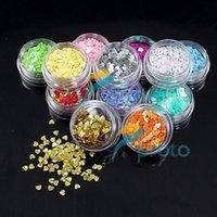 beauty express - Express Freeship sets Pots Colorful Heart Shape Glitter Flakes Decoration for D Nail Art Beauty SKU D0038X