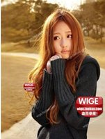 Wholesale New Black and Brown Color Style Women Girl Sexy Long Full Wavy Hair Wig W05