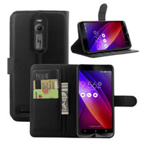 asus pen - For ASUS Zenfone ZE550ML High Quality Litchi Pattern Wallet Stand PU Leather Case Cover with Card Slot Touch Pen