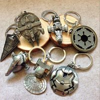 Wholesale 2016 Hot sale Star Wars Film Surrounding Keyrings Star Wars Spacecraft Warships Keychain Keyring Keyfobs Metal Jewelry Accessories