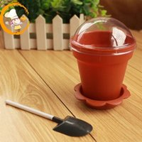 disposable spoon - DIY ml Creative Pot Yogurt Mousse Dessert Cupcake Box Ice Cream Pudding Cups With Dome Lids And Spoon