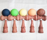 Wholesale 30PC size beech wood kendama toy more color kendama pill and kendama doll