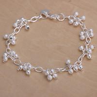best fishing hooks - Hot sale best gift silver Sand beads hanging grapes Bracelet DFMCH087 new fashion sterling silver Chain link gemstone bracelets