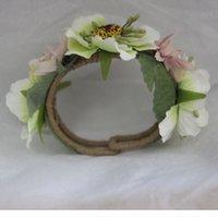 Wholesale Fashion Jewelry Bride Bridesmaid flower bracelet Wedding Party Lovely Flower Brides Wedding Accessories Bangle Bracelet BRC00003
