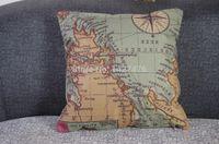 beautiful map design - 2015 New Design World Map cotton bedding sofa pillow case under a beautiful home decoration wedding pillowcase