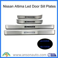 Wholesale Altima Illuminated scuff plate blue LED door sill covers for Nissann Altima car styling