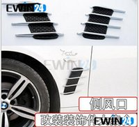 air duct vent - Good Car Side Air Flow Vent Fender Hole Cover Intake Grille Duct Decor Sticker New pairs